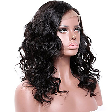 Remy Human Hair Glueless Lace Front Lace Front Wig Brazilian Hair Wavy Wig 130% 150% 180% Hair Density Baby Hair African American Wig Glueless Women's Short Medium Length Long Human Hair Lace Wig