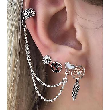 povoljno Modne naušnice-Žene visiti Naušnice Naušnice Helix neprilagođeno Pljusnuti Srce Hvatač snova dame Rock Naušnice Jewelry Pink Za Klub Jabuka 6kom