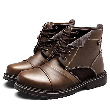 Hombre Zapatos Cuero Cuero de Napa Invierno Invierno Invierno Otoño Botas de Moda 5767a1