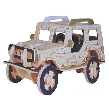 levne 3D puzzle-Autíčka Figurína Stavební bloky Vojenské auto Stres a úzkost Relief Nový design Automobily Armáda Auto Dřevěný Elegantní & moderní Dětské Hračky Dárek