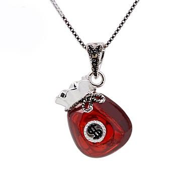 levne Dámské šperky-Dámské Synthetic Ruby Obojkové náhrdelníky Náhrdelníky s přívěšky Přizpůsobeno Módní Stříbro Stříbrná Náhrdelníky Šperky Pro Dar Jdeme ven