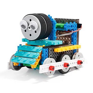 Robot Remote Control Building Kit Building Blocks Construction Vehicle Toys Truck Simple Remote Control / RC Electric Soft Plastic