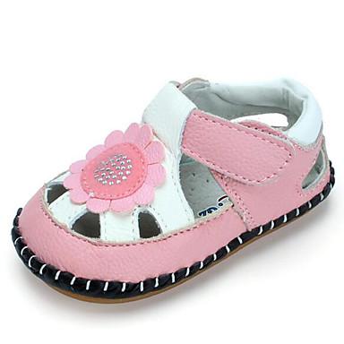 69974b113b7a30 Fille Sandales Confort Premières Chaussures Eté Cuir Décontracté Blanc  Rouge Rose Plat de 6197535 2019 à $16.99