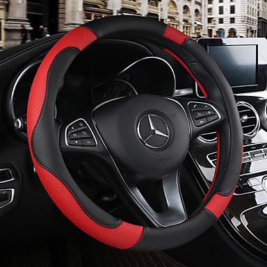 povoljno Dodaci za unutrašnjost auta-prekrivač upravljača koža prozračna protukliznuta kožna navlaka za upravljač 38cm bež / crna / smeđa / crna / crvena za chevrole svih godina