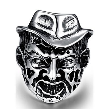 levne Pánské šperky-Pánské Boxer Stříbrná Nerez Slitina Geometric Shape Přizpůsobeno Punk Halloween Street Šperky Geometrické Lebka