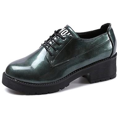 Hombre Zapatos PU Verano Confort Oxfords Gris / Verde / Wine rAL48i