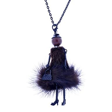 povoljno Modne ogrlice-Žene Izjava Ogrlice Long Princeza dame Šarene Čipka Legura Obala Crn Svijetlo zelena Ogrlice Jewelry Za Kauzalni Stage