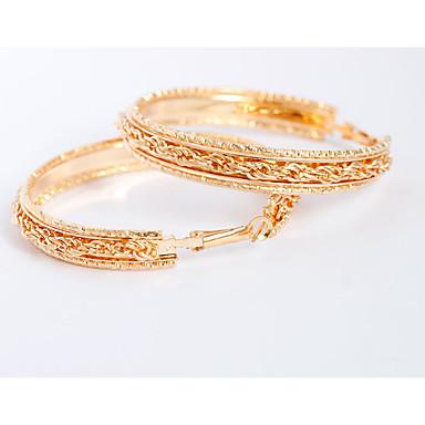 Žene Viseće naušnice Okrugle naušnice Personalized Naušnice Jewelry Zlato Za Vjenčanje Party Dnevno