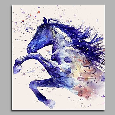 Estampado Estampados de Lonas Esticada - Animais Artistíco Aniversário Contemporâneo Moderno Art Prints