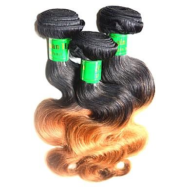 povoljno Ekstenzije za kosu-Indijska kosa Tijelo Wave Remy kosa Ombre Ombre Isprepliće ljudske kose Proširenja ljudske kose