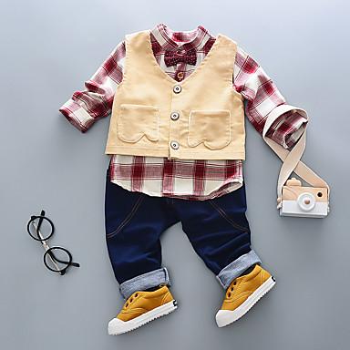 povoljno Odjeća za dječake-Dječaci Dungi Pamuk Komplet odjeće Plava