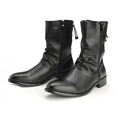 Hombre Zapatos Cuero Sintético Otoño / Invierno Innovador Botas Botines / Hasta el Tobillo Negro / Marrón ar4t5sy