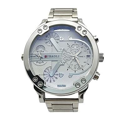 levne Pánské-JUBAOLI Pánské Sportovní hodinky Křemenný Kov Zlatá 30 m Kalendář Hodinky s dvojitým časem Velký ciferník Analogové Přívěšky Módní Unikátní kreativní sledování - Bílá Černá Světle modrá