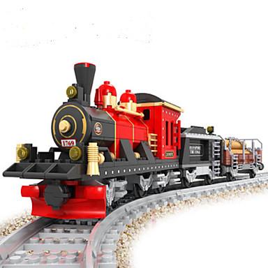 AUSINI Blocos de Construir Conjunto de construção de brinquedos Brinquedo Educativo 410 pcs Natureza Morta Veículos Cauda compatível Legoing Clássico Chique & Moderno Fashion Trem Conjuntos de Trens