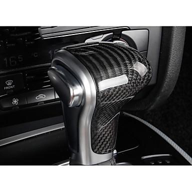 billige Interiørtilbehør til bilen-Kjøretøy Kjøretøyskiftsknap tilbakestill(Karbonfiber)Til Audi 2015 2016 2013 2014 A4L