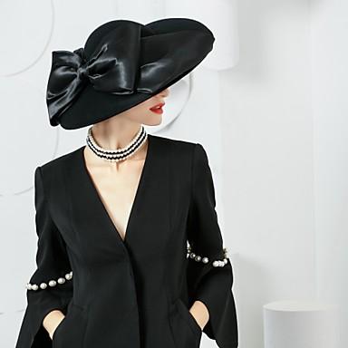 levne Klobouk na party-vlna hedvábná klobouky headpiece svatební party elegantní klasický ženský styl