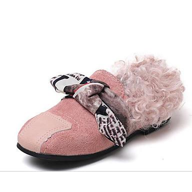 [$10.99] Mädchen Schuhe Kunstleder Winter Herbst Komfort Flache Schuhe für Normal Kaffee Rosa Mandelfarben