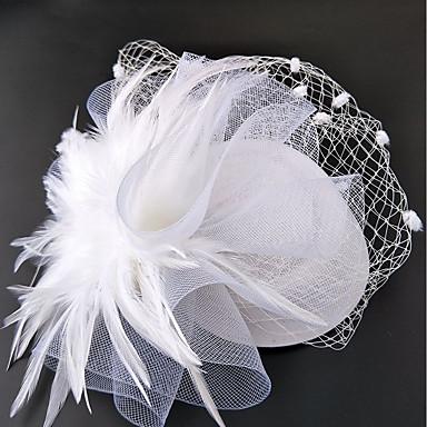 voordelige Hoeden-Net fascinators / hatut / Hoofddeksels met Bloemen 1pc Bruiloft / Speciale gelegenheden Helm