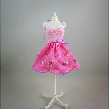 Icin Barbie Bebek Pembe Boyama Elbise Icin Kiz Oyuncak Bebek