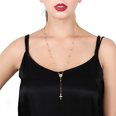 cheap Jewelry & Watches-Women's Pendant Necklace Chain Necklace Cross Cross Alloy Gold Silver Necklace Jewelry For Daily Street
