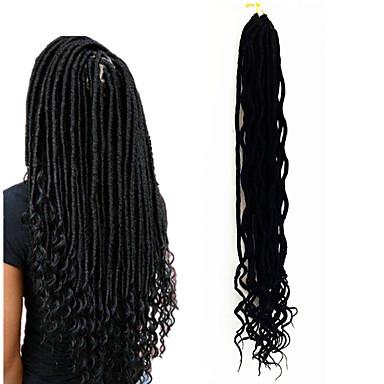 Μαλλιά για πλεξούδες Σγουρά Dread Locks Εξτένσιον από Ανθρώπινη Τρίχα Dreadlocks / Faux Locs 100% μαλλιά kanekalon Kanekalon 24 ρίζες / πακέτο μαλλιά Πλεξούδες Ombre Μεσαίο Πλεξούδες με ανταύγειες