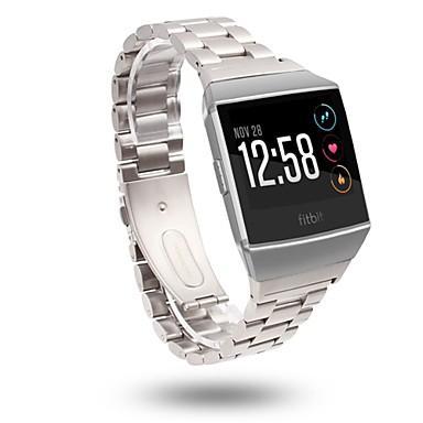 Pulseiras de Relógio para Fitbit ionic Fitbit Fecho Clássico Aço Inoxidável Tira de Pulso