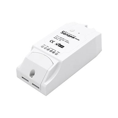 billige Smartplugger-sonoff® dual channel diy wifi trådløs app fjernkontroll bryterkontakt AC 90-250v for smart hjem