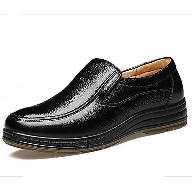 ราคาถูก Clearance-สำหรับผู้ชาย รองเท้าสบาย ๆ หนังสัตว์ / หนัง ตก / ฤดูหนาว ไม่เป็นทางการ รองเท้า Oxfords สีดำ