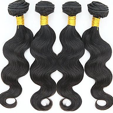 povoljno Ekstenzije od ljudske kose-4 paketića Indijska kosa Tijelo Wave Ljudska kosa Ljudske kose plete 8-30 inch Isprepliće ljudske kose Moda Proširenja ljudske kose / 8A