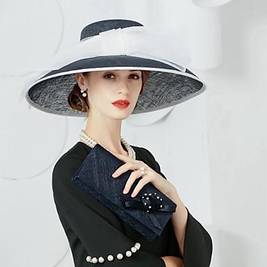 preiswerte Partyhut-Flachs Kentucky Derby-Hut / Hüte mit 1 Hochzeit / Party / Abend Kopfschmuck