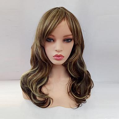 Με αφέλειες Περούκα Ξανθό Μεσαίο Ουράνιο Τόξο Συνθετικά μαλλιά Γυναικεία Ξανθό