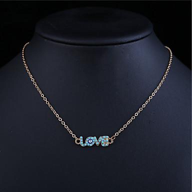 Γυναικεία Κρυστάλλινο Κρεμαστά Κολιέ Μοντέρνα Κράμα Χρυσό Κολιέ Κοσμήματα 1pc Για Καθημερινά Causal