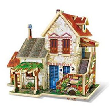 RUOTAI Quebra-Cabeças 3D Brinquedos de Montar Modelos de madeira Casas De madeira 1 pcs Crianças Brinquedos Dom