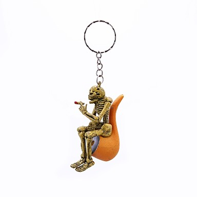 cheap Keychains-Keychain Yellow Rubber Alloy Vintage Rock For