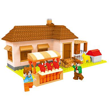 AUSINI Blocos de Construir 293 pcs Tema Jardim Tema Fadas Casas compatível Legoing Adorável Para Meninos Brinquedos Dom