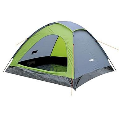 2 Pessoas Tenda Ao ar livre A Prova de Vento Única Camada Barraca de acampamento <1000 mm para Acampar e Caminhar Pesca Praia 205*140*100 cm