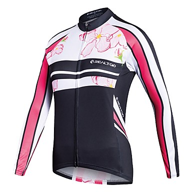 Realtoo Γυναικεία Μακρυμάνικο Φανέλα ποδηλασίας Ποδήλατο Αθλητική μπλούζα Μπολύζες Ποδηλασία Βουνού Ποδηλασία Δρόμου Αθλητισμός Polyster Ρούχα / Ελαστικό