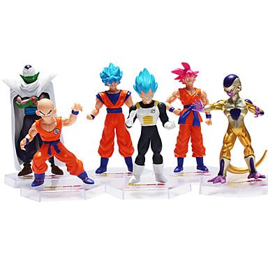 preiswerte Action & Spielfiguren-Sun WuKong Son Goku Dragon Ball Action & Spielfiguren Animes & Manga Neuartige Kunststoff Herrn Jungen Mädchen Spielzeuge Geschenk 6 pcs / Zahl