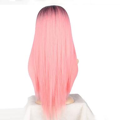 Pelo sintético Rosa Peluca Mujer Larga Peluca de cosplay Sin Tapa 6316095  2019 –  14.99 702143b4168f