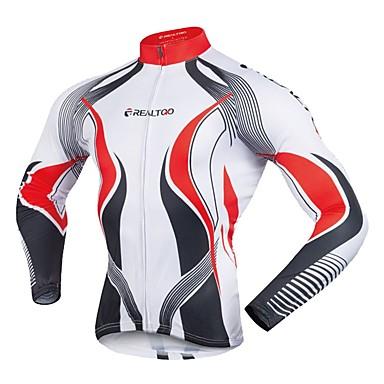 Realtoo Homens Manga Longa Camisa para Ciclismo Moto Camisa / Roupas Para Esporte Blusas Ciclismo de Montanha Ciclismo de Estrada Esportes Polyster Roupa / Com Stretch