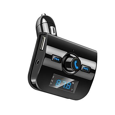 bluetooth carro kit mãos-livres chamada fm transmissor rádio adaptador estéreo mp3 player de música dual usb carregador aux tf cartão de