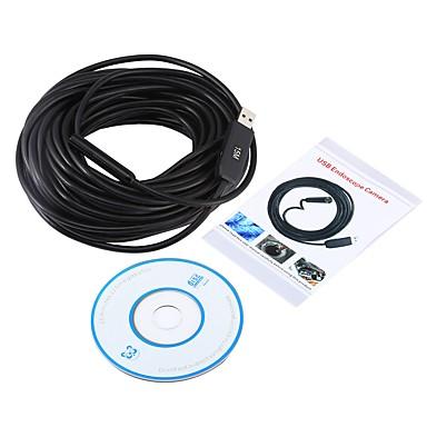 billige Test-, måle- og inspeksjonsverktøy-usb endoskop 15m lengde mini kamera 10mm objektiv vanntett ip67 borescope inspeksjon 4 led snake video cam windows pc