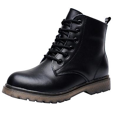 Αγορίστικα Ανατομικό / Μοντέρνες μπότες / Μπότες Μάχης Δέρμα Μπότες Τα μικρά παιδιά (4-7ys) / Μεγάλα παιδιά (7 ετών +) Κορδόνια Λευκό / Μαύρο Χειμώνας / Μποτίνια / TPR (Θερμοπλαστικό Καοτσούκ) / EU37