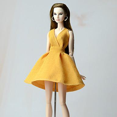 Nuken mekko Juhla ilta varten Barbie nukke Kukat Kasvit