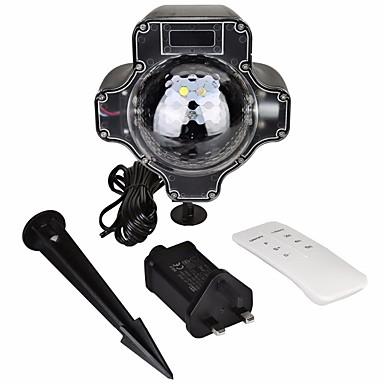 KWB 1conjunto Focos de LED Impermeável / Regulável / Controle Remoto Iluminação Externa / Halloween / Dia de Ação de Graças 4 Contas LED