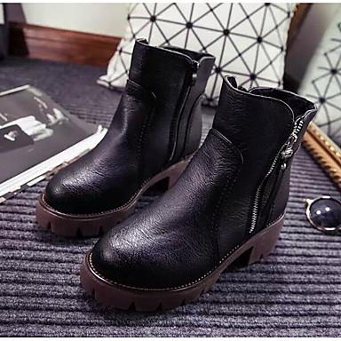 Hombre Zapatos Cuero Nobuck Otoño / Invierno Confort / Botas de Combate Botas Botines / Hasta el Tobillo Negro / Gris / Almendra vFdmx38