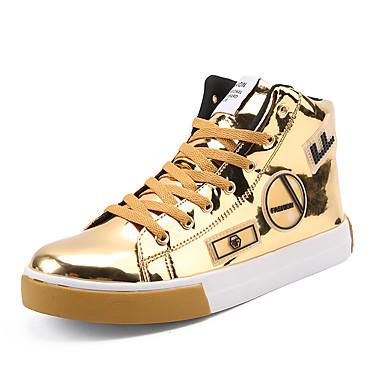 preiswerte Herrenschuhe-Herrn Komfort Schuhe Lackleder Frühling / Herbst Sneakers Mittelhohe Stiefel Schwarz / Gold / Silber / Party & Festivität / Party & Festivität / EU40
