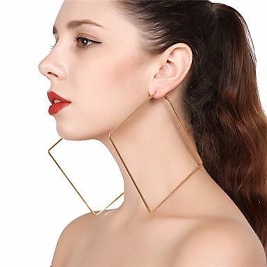 povoljno Modne naušnice-Žene Viseće naušnice Okrugle naušnice Geometrijski dame Ogroman Naušnice Jewelry Zlato / Pink Za Party Ulica
