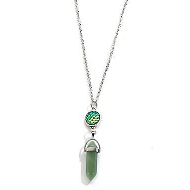levne Pánské šperky-Pánské Dámské Sopečný kámen Náhrdelníky s přívěšky Geometrické Jednoduchý Přírodní kámen Slitina Tyrkysová Světle modrá Světle zelená Náhrdelníky Šperky 1 Pro Denní
