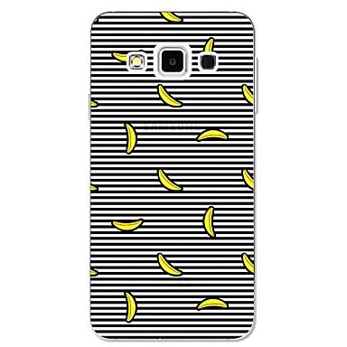 Capinha Para Samsung Galaxy A3 (2017) / A5 (2017) / A7 (2017) Estampada Capa traseira Linhas / Ondas / Fruta Macia TPU